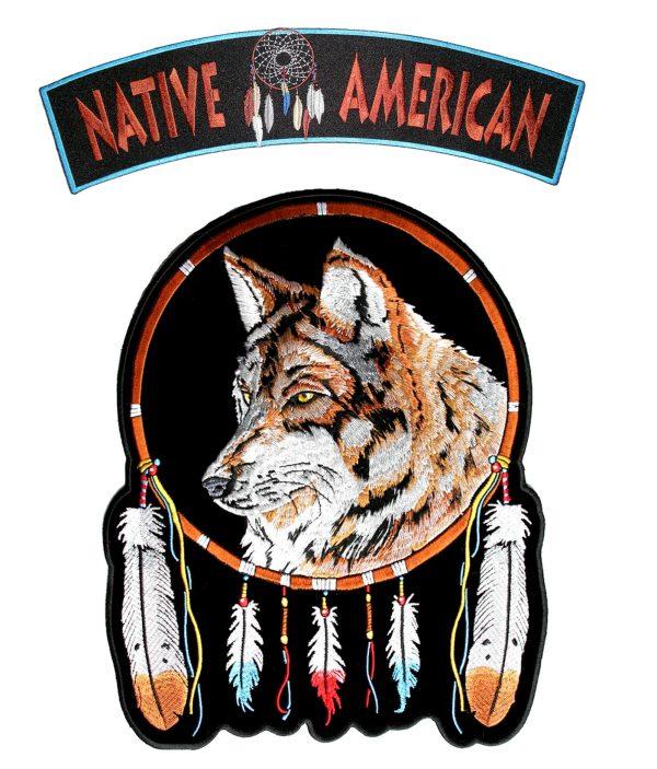 native American wolf rocker set