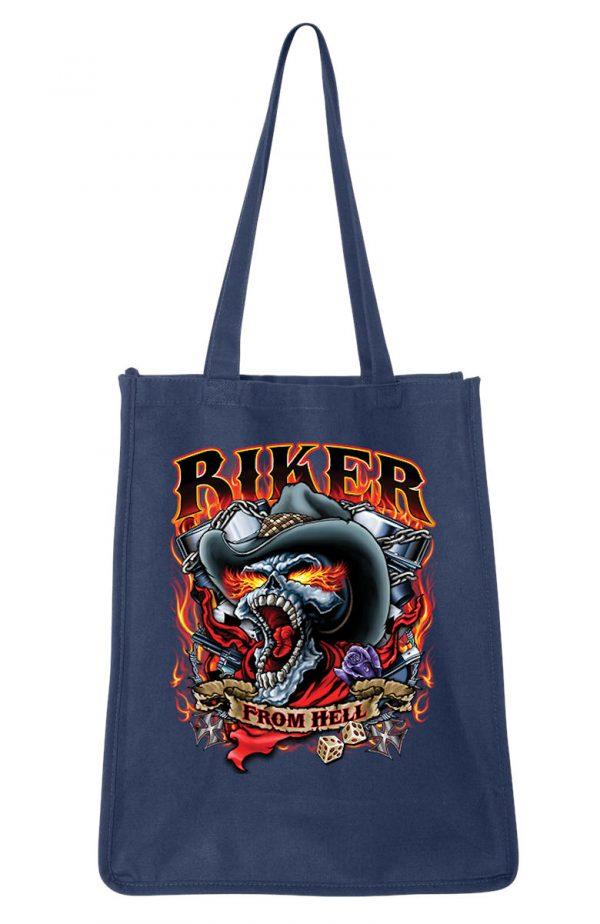 biker from hell shopping bag